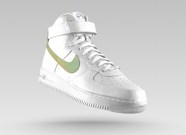 白球鞋 Nike_air force 1 high premium ASG iD